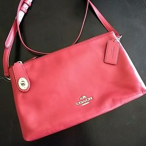 NWT Red Coach Shoulder Bag